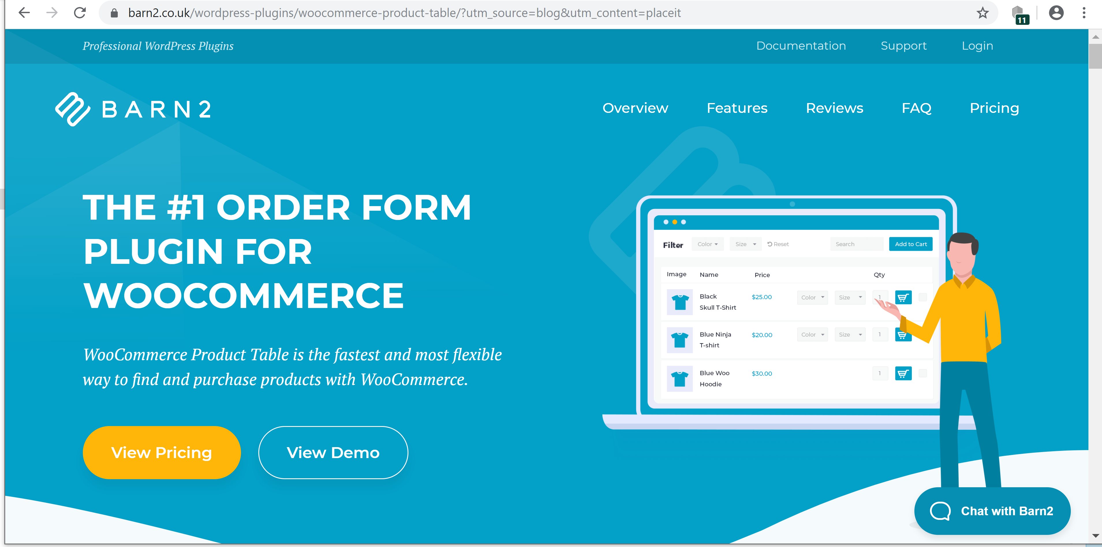 Order form plugin for WooCommerce