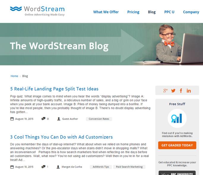 Tạo một blog để Content Marketing